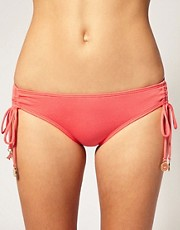 Juicy Couture Ruffle Gathered Side Bikini Brief