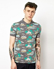 ASOS Polo With Hawaiian Print