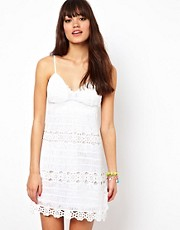 Manoush Crochet Mini Dress