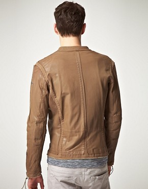 Image 2 ofDiesel Loyd Zip Biker Leather Jacket