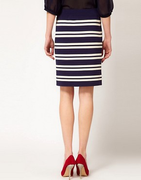 Image 2 ofBoutique by Jaeger Pencil Skirt in Stripe