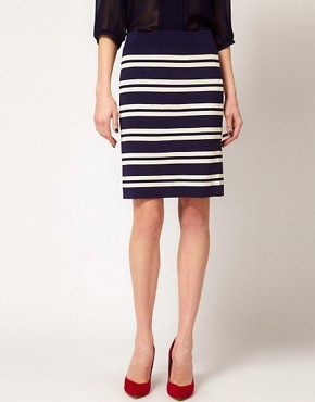Image 4 ofBoutique by Jaeger Pencil Skirt in Stripe