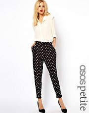 ASOS PETITE Spot Peg Jersey Trousers