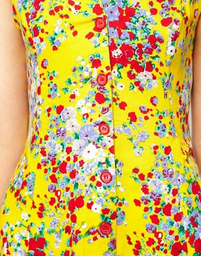 Image 3 ofMotel Ditsy Floral Playsuit