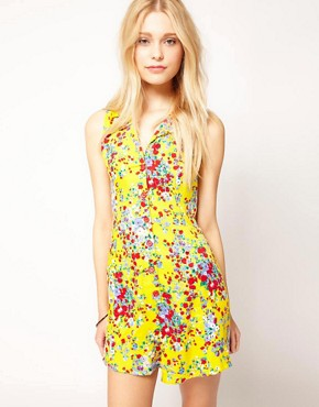 Image 1 ofMotel Ditsy Floral Playsuit