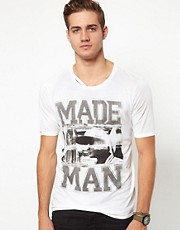 Diesel - T-Colorado Made Man - T-shirt stampata