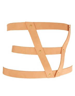 Image 2 ofASOS 3 Strap Pastel Harness Belt