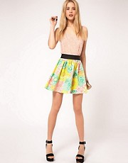 ASOS Skater Skirt in Darling Bud Print