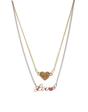 Image 1 ofASOS Love Heart Choker Necklace Pack