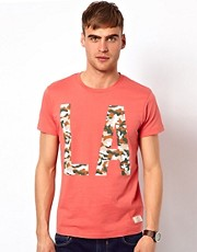 Jack &amp; Jones T-Shirt With LA Camo Print