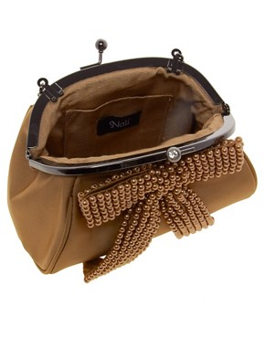 Image 2 ofNali Vintage Style Bow Front Clutch Bag