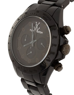 Bild 4 von Toy Watch  Unisex M008bk  Schwarze Uhr mit Kunststoffarmband