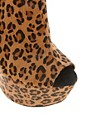 Image 2 ofRiver Island Even No Heel Leopard Wedge Ankle Boots