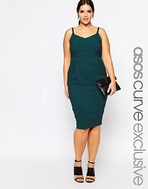 ASOS CURVE Exclusive Hitchcock Pencil Dress