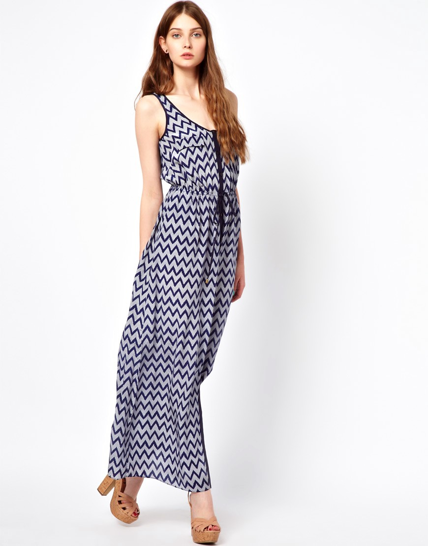 Greylin Chelsie Silk Crepe Maxi Dress With Buttondown Front - Navy