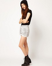 Just Female Snake Print Shorts