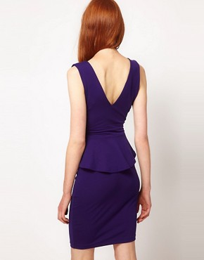 Image 2 ofWarehouse V Detail Peplum Dress