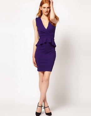 Image 4 ofWarehouse V Detail Peplum Dress