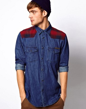 Image 1 ofJack &amp; Jones Denim Shirt