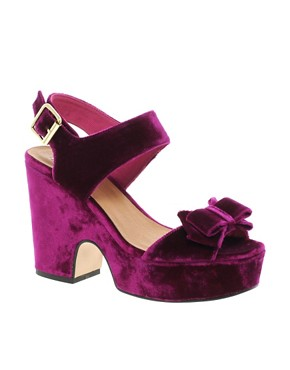 Image 1 ofASOS HIGH FIVE Platform Bow Sandals