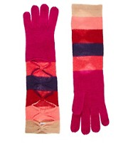 Alice Hannah Colourblock Long Gloves