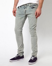 Nudie Jeans Tight Long John Skinny Fit Black Bleach