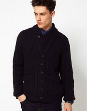French Connection Lambswool Knit Button Through Cardigan