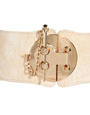 Image 3 ofASOS Wide Waist Belt With Bold Fastening