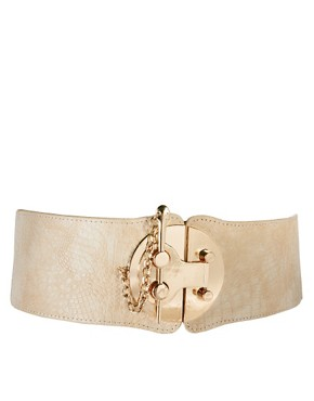 Image 1 ofASOS Wide Waist Belt With Bold Fastening