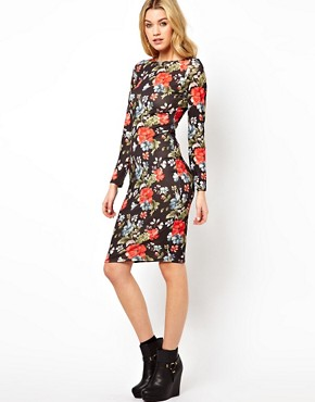 Image 4 ofGlamorous Midi Dress In Floral Print
