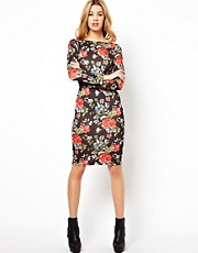 Glamorous Midi Dress In Floral Print