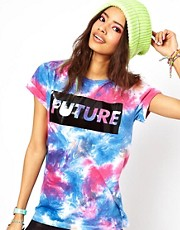 ASOS T-Shirt with Future Blocked Tie Dye Print