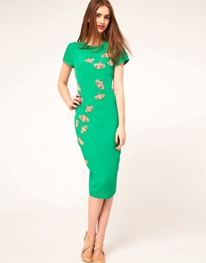 Image 1 ofASOS Midi Dress with Embellished Bugs