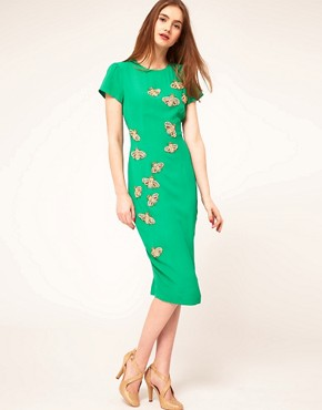 Image 4 ofASOS Midi Dress with Embellished Bugs