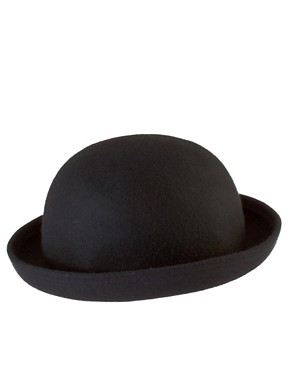 Image 2 ofASOS Roll Brim Felt Boater Hat