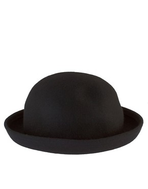 Image 4 ofASOS Roll Brim Felt Boater Hat