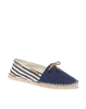Image 1 ofASOS Striped Boat Espadrilles