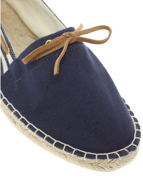 Image 2 ofASOS Striped Boat Espadrilles