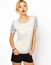 Mango Insert Panel T-Shirt