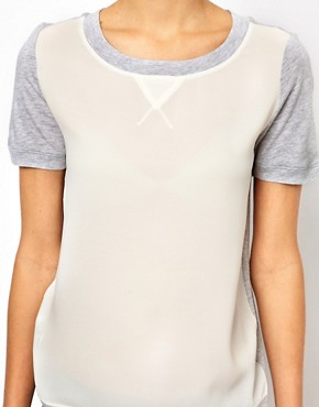 Image 3 ofMango Insert Panel T-Shirt