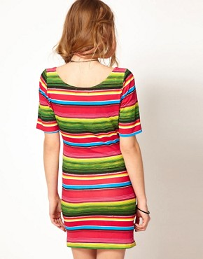 Image 2 of Minkpink Bodycon Dress In Mexicana Stripe