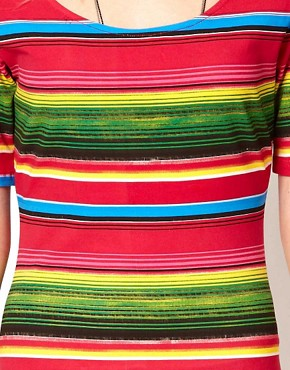 Image 3 of Minkpink Bodycon Dress In Mexicana Stripe