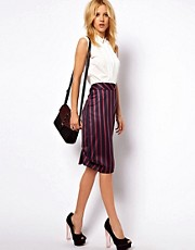 ASOS Pencil Skirt In Stripe
