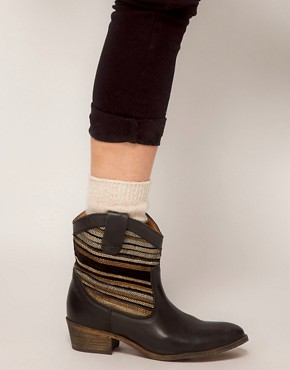 Image 3 ofBertie Pentra Woven Western Boots