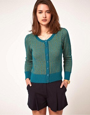 Image 1 ofA Wear Metallic Cardigan