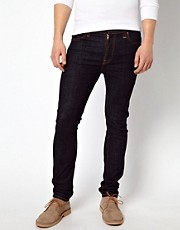 Nudie Jeans High Kai Skinny Fit Twill Navy