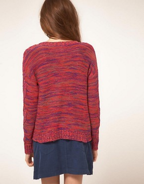 Image 2 ofVila Knitted Jumper in Multi Coloured Cable