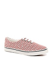 ASOS Plimsolls With Ikat Print