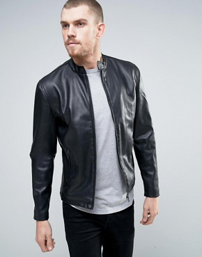 French Connection Faux Leather Biker Jacket
