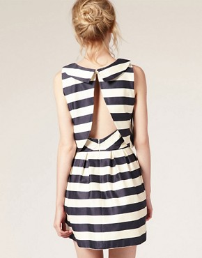 Image 2 ofASOS Peter Pan Dress in Stripe Print